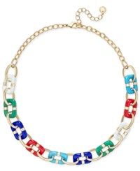 Charter Club Colored Link Statement Necklace Only At Macy's Multi