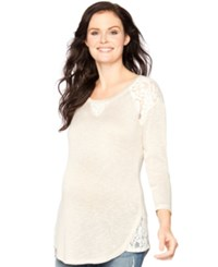 Motherhood Maternity Lace Trim Sweatshirt