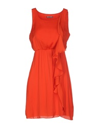 Toy G. Short Dresses Orange