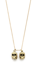 Monserat De Lucca Gemini Zodiac Necklace Gold