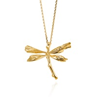 Catherine Zoraida Dragonfly Necklace Gold