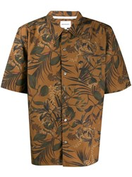 Norse Projects Floral Short Sleeve Shirt Brown