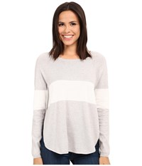 Tart Calla Sweater Heather Grey White Stripe Women's Sweater Gray