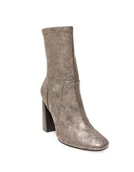Design Lab Lord And Taylor Maala Microsuede Ankle Length Boots Pewter