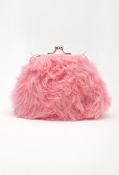 Forever 21 Fuzzy Coin Purse