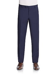 Sand Craig Wool And Mohair Trousers Navy