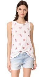 Current Elliott The Star Muscle Tee Sugar With Rosewood Star