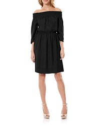 Laundry By Shelli Segal Solid Off The Shoulder Dress Black