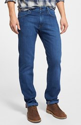 Men's Agave 'Gringo Merced 14' Straight Leg Japanese Denim Jeans Indigo