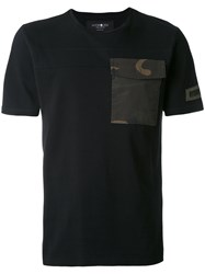 Hydrogen Camouflage Pocket T Shirt Men Cotton L Black