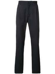 A.P.C. Slim Fit Tailored Trousers Blue