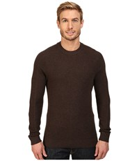 Royal Robbins All Season Merino Thermal Crew Sweater Petrified Oak Men's Sweater Black
