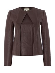Linea Limited Leather Jacket Berry