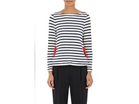 Lisa Perry Women's Mariners Striped Cotton Top Ivory