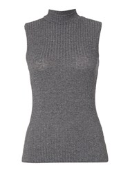 Therapy Tilly Turtle Neck Sleeveless Top Black