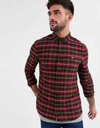 New Look Shirt In Red Tartan Check