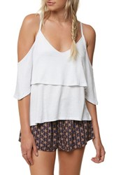 O'neill Jupiter Cold Shoulder Top White