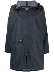 Ecoalf Zipped Hooded Coat Grey