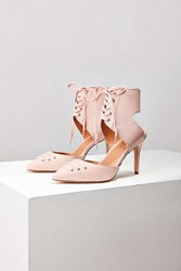 Urban Outfitters Skylar Lace Up Heel Pink