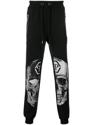 Philipp Plein Embellished Skull Track Pants Black