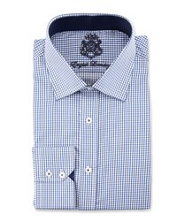 English Laundry Check Long Sleeve Dress Shirt Navy