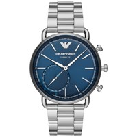 Emporio Armani Connected Art3028 'S Aviator Hybrid Bracelet Strap Smartwatch Silver Blue