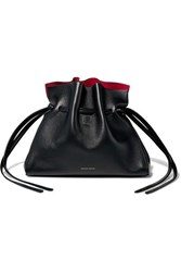 Mansur Gavriel Protea Mini Leather Shoulder Bag Black