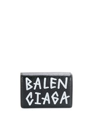 Balenciaga Carry Mini Wallet Graffiti Black