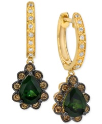 Le Vian Chocolatier 50 Shades Of Green Green Tourmaline 1 1 5 Ct. T.W. And Diamond 1 3 Ct. T.W. Earrings In 14K Gold