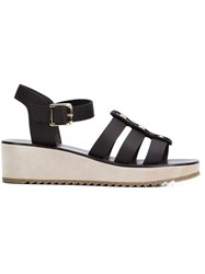 A.P.C. Embellished Wedge Sandals Brown