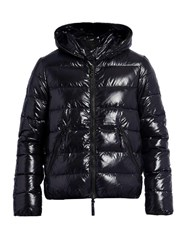 Duvetica Dionisio Hooded Quilted Down Jacket Navy