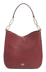 Kate Spade New York Robson Lane Sana Leather Hobo Burgundy Cherry Wood