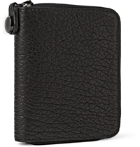 Parabellum Courier Zip Around Leather Billfold Wallet Black