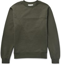 Public School Panelled Cotton Jersey Sweatshirt Army Green