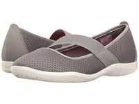 Crocs Swiftwater Flat Smoke White Women's Flat Shoes Gray