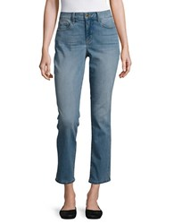 Nydj Petite Faded Cropped Jeans Blue