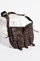 Free People Womens Glade Leather Messenger