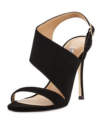 Charles David Oslo Asymmetric Strappy Sandal Black