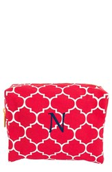 Cathy's Concepts Monogram Cosmetics Case Coral N