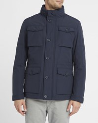 Wrangler Navy The Field Patch Pockets Parka Blue