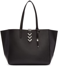 Mackage Black Leather Aggie Tote