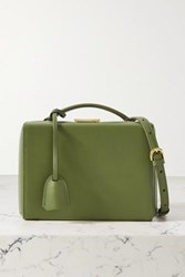 Mark Cross Grace Small Leather Shoulder Bag Army Green