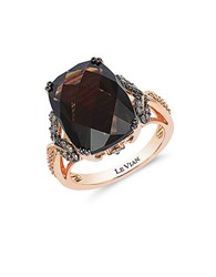Le Vian 14K Rose Gold Smoky Quartz And Diamond Ring