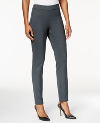 Nydj Jacqueline Solid Fitted Pants Eclipse