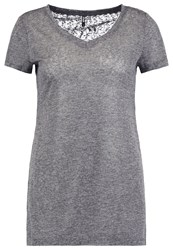 Only Onlhanna Basic Tshirt Dark Grey Melange Mottled Dark Grey