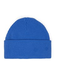 Topman Blue Ribbed Beanie Hat