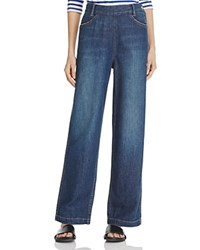 Vince High Rise Side Zip Jeans Mid Wash