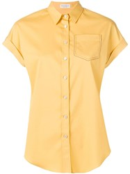 Brunello Cucinelli Shortsleeved Shirt Yellow