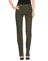 Plein Sud Jeanius Trousers Casual Trousers Women Military Green