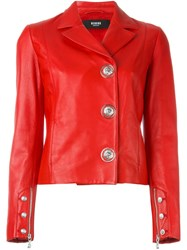 Versus Off Centre Fastening Jacket Red